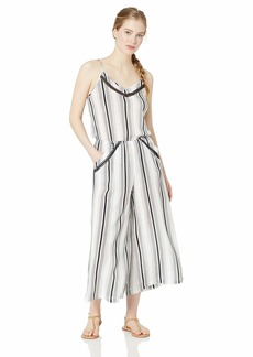 Lucky Brand Women's Crop Wide Leg Jumpsuit Swimwear Cover Up