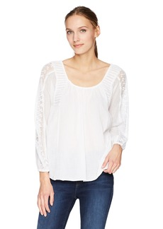 Lucky Brand Women's Cross Back Peasant TOP  XS