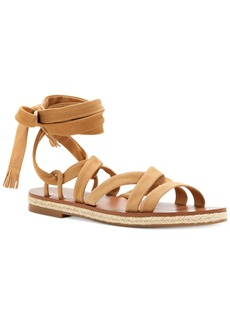 Lucky Brand Women's Dalty Flat Lace-Up Sandals Women's Shoes