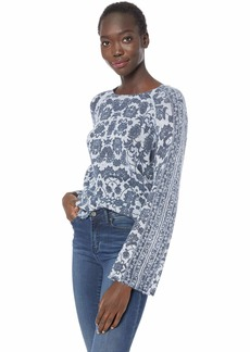 Lucky Brand Women's Damask Pullover Sweater  L