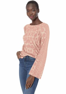 Lucky Brand Women's Damask Pullover Sweater  XL