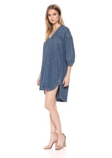 Lucky Brand Women's Denim Popover Dress  L