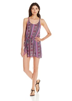Lucky Brand Women's Desert Dancer Rayon Cover Up Wrap Dress with Draw Cord Waist