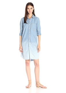 Lucky Brand Women's Dip-Dye Shirt Dress