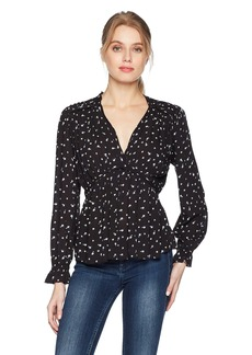 Lucky Brand Women's Ditsy Floral Top  L
