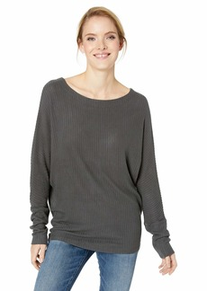 Lucky Brand Women's Dolman Sleeve Rib TOP  XL