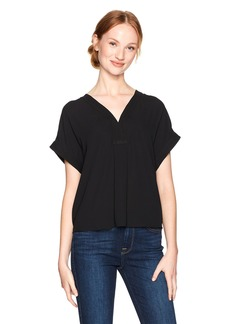 Lucky Brand Women's Draped Shirt Black