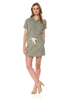 Lucky Brand Women's Drawstring Dress sage FRAY L