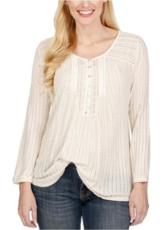 Lucky Brand Women's Drop Needle Knit Top
