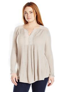 Lucky Brand Women's Drop Needle Knit Top