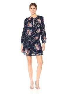 Lucky Brand Women's Drop Waist Printed Dress in  XL