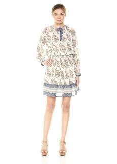 Lucky Brand Women's Drop Waist Printed Dress  L