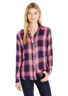 Lucky Brand Women's Duo Fold Plaid Shirt  Medium