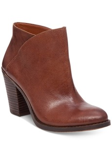 Lucky Brand Women's Eesa Block-Heel Booties Women's Shoes