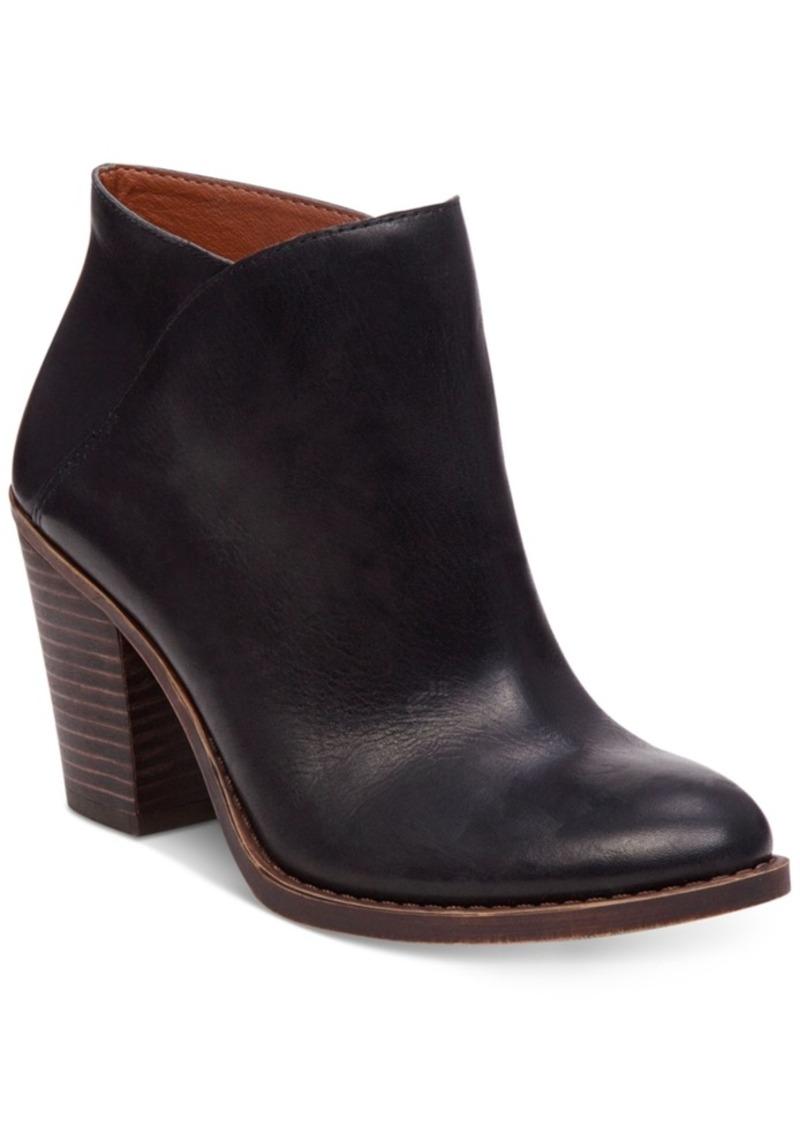 Lucky Brand Women's Eesa Block-Heel Booties Women's Shoes