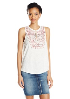 Lucky Brand Women's Embro Sequin Tank Top