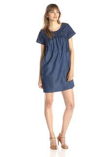 Lucky Brand Women's Embroiderd Tencel Dress