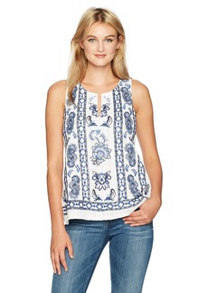 Lucky Brand Women's Embroidered Floral Tank Top