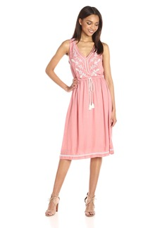 Lucky Brand Women's Embroidered Midi Dress
