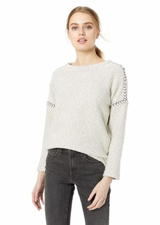 Lucky Brand Women's Embroidered Pullover Sweatshirt  M