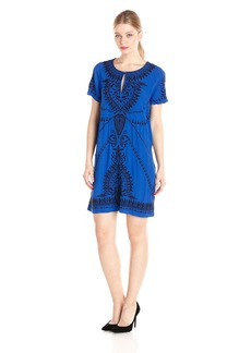 Lucky Brand Women's Embroidered Shift Dress
