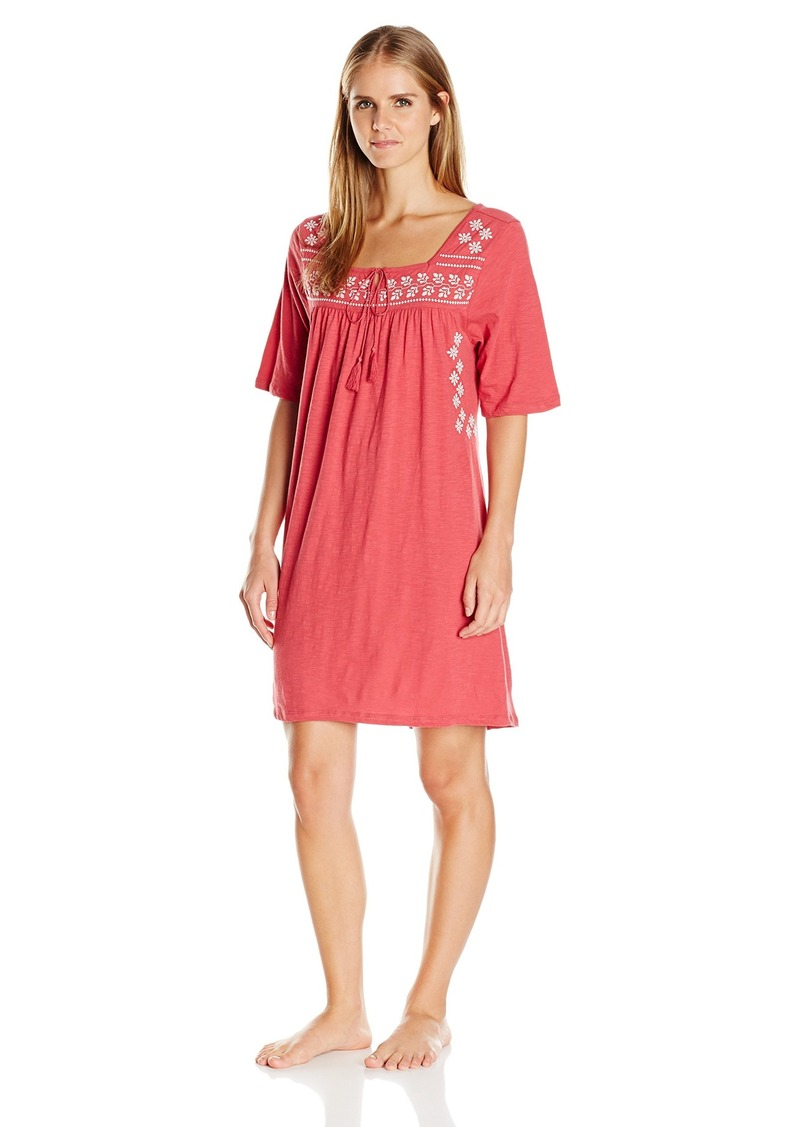 Lucky Brand Women's Embroidered Sleep Dress