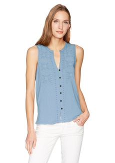 Lucky Brand Women's Embroidered Tank TOP  S