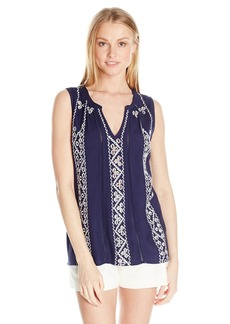 Lucky Brand Women's Embroidered Tank Top  X-Small