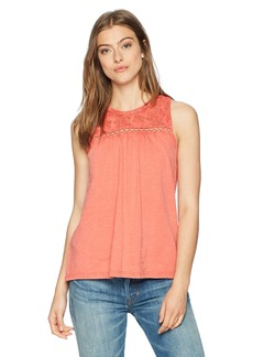 Lucky Brand Women's Embroidered Tank TOP  XS