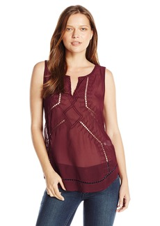 Lucky Brand Women's Embroidered Top