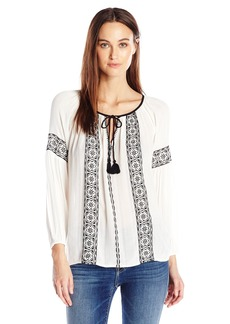 Lucky Brand Women's Embroidered Top White
