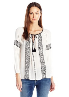 Lucky Brand Women's Embroidered Top in