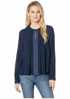 Lucky Brand Women's Embroidered TOP  S