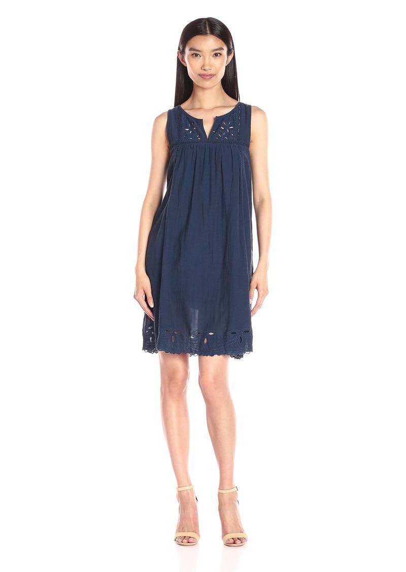 Lucky Brand Women's Embroidered-Yoke Dress