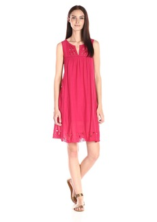 Lucky Brand Women's Embroidered-Yoke Dress