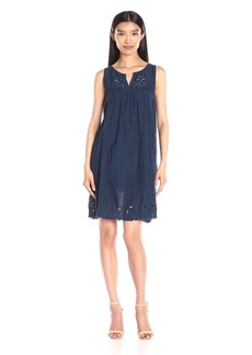 Lucky Brand Women's Embroidered-Yoke Dress  Medium