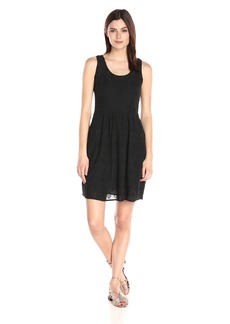 Lucky Brand Women's Black Eyelet Dress