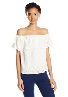 Lucky Brand Women's Eyelet Off The Shoulder Top