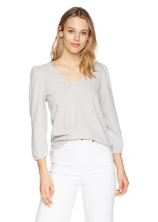 Lucky Brand Women's Eyelet Peasant Top  XS