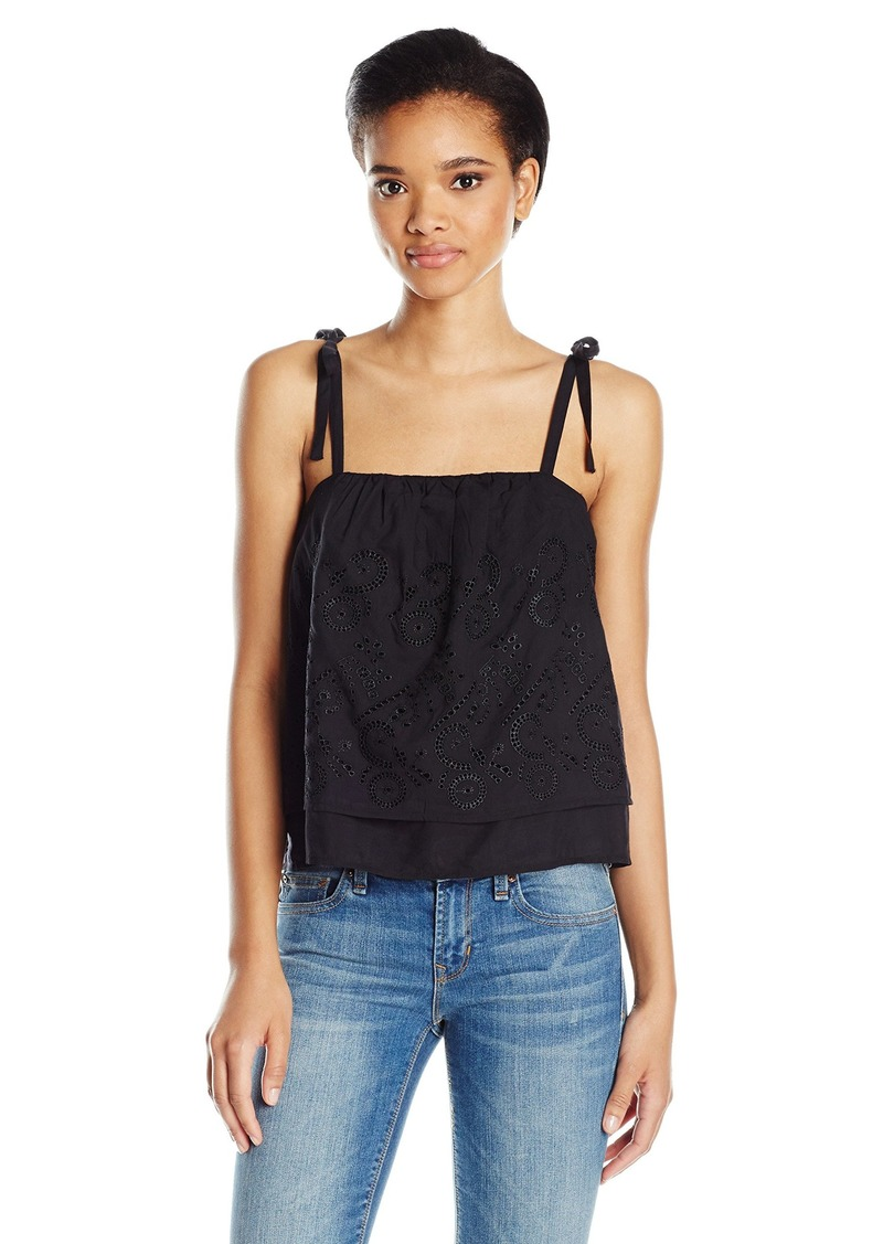 Lucky Brand Women's Eyelet Tank Top
