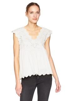 Lucky Brand Women's Eyelet Tank TOP  L