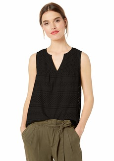 Lucky Brand Women's Eyelet Tank TOP  XL