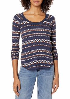 Lucky Brand Women's Fair Isle Thermal Top  XL