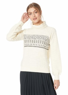 Lucky Brand Women's Fairisle Turtleneck Pullover Sweater  M