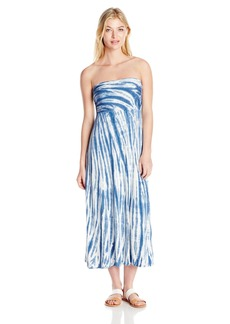 Lucky Brand Women's Fireworks Tie-Dye Convertible Dress Or Skirt Cover-up