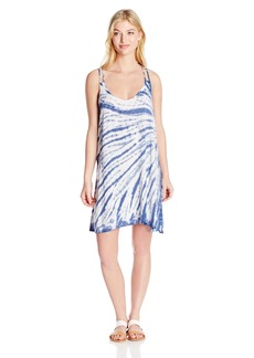 Lucky Brand Women's Fireworks Tie Dye Dress Cover Up