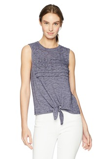 Lucky Brand Women's Flag Graphic TIE Tank TOP  XL