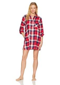 Lucky Brand Women's Flannel Button Down Sleepshirt  L