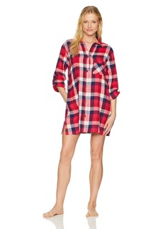 Lucky Brand Women's Flannel Button Down Sleepshirt  XL