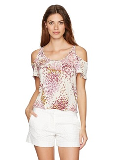 Lucky Brand Women's Floral Cold Shoulder Top
